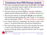 conclusions from psd entropy analysis