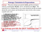 entropy calculation expectations