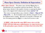 phase space density definition expectations