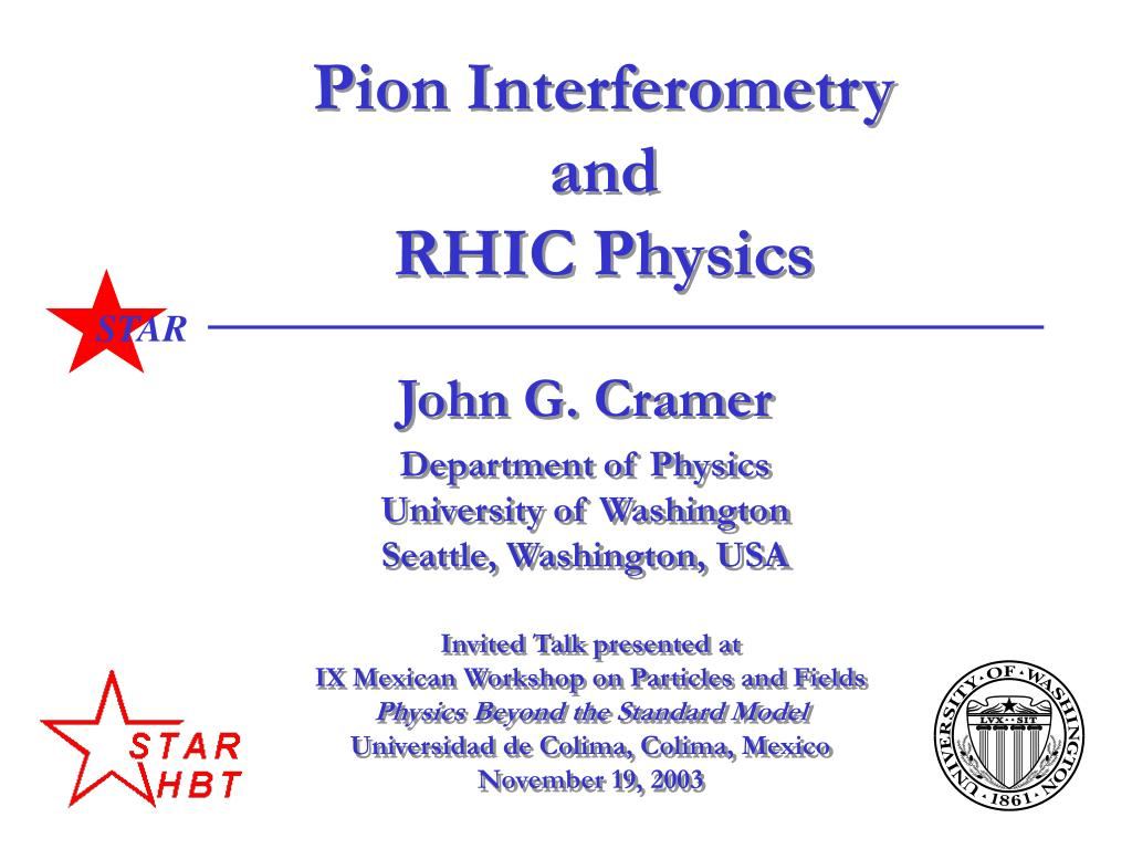 pion interferometry and rhic physics l.
