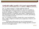 articoli sulla parit e le pari opportunit