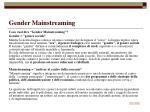 gender mainstreaming11