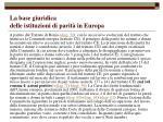 la base giuridica delle istituzioni di parit in europa