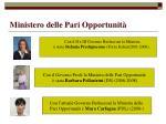 ministero delle pari opportunit48