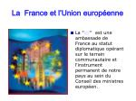 la france et l union europ enne