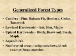 generalized forest types