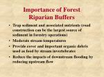 importance of forest riparian buffers