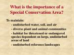 what is the importance of a special conservation area