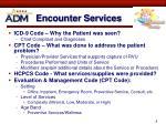 encounter services