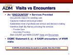 visits vs encounters
