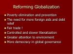reforming globalization