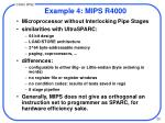 example 4 mips r4000