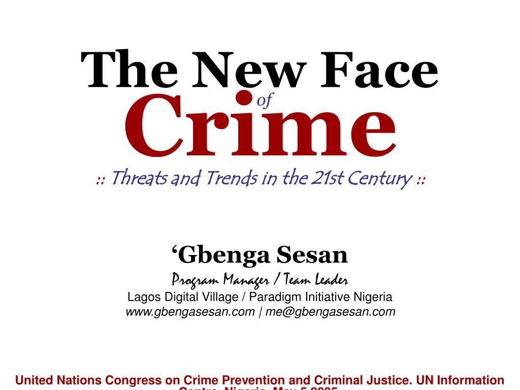 the new face of crime l.