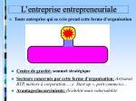 l entreprise entrepreneuriale