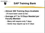 sap training bank