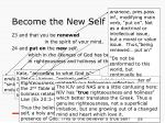 become the new self
