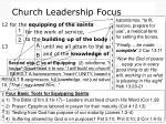 church leadership focus