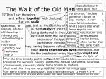 the walk of the old man