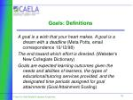 goals definitions