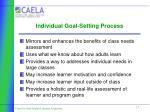 individual goal setting process