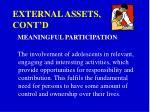 external assets cont d