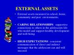 external assets