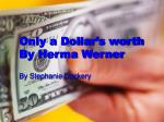 only a dollar s worth by herma werner