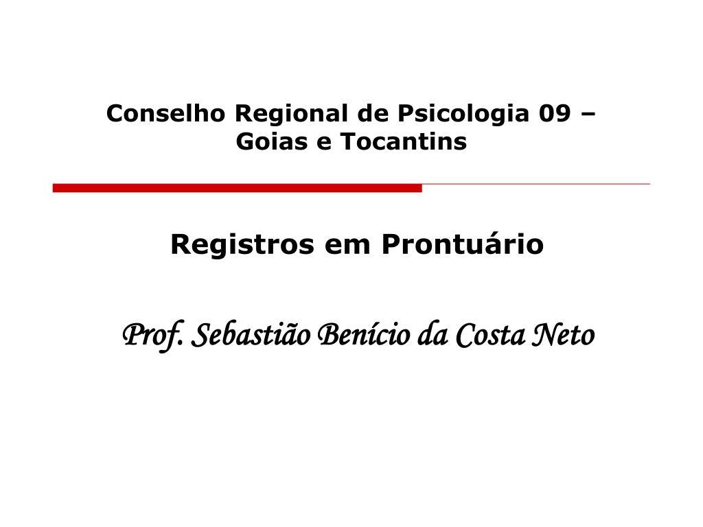 conselho regional de psicologia 09 goias e tocantins l.
