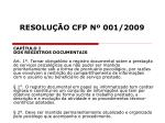 resolu o cfp n 001 20097
