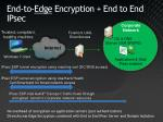 end to edge encryption end to end ipsec