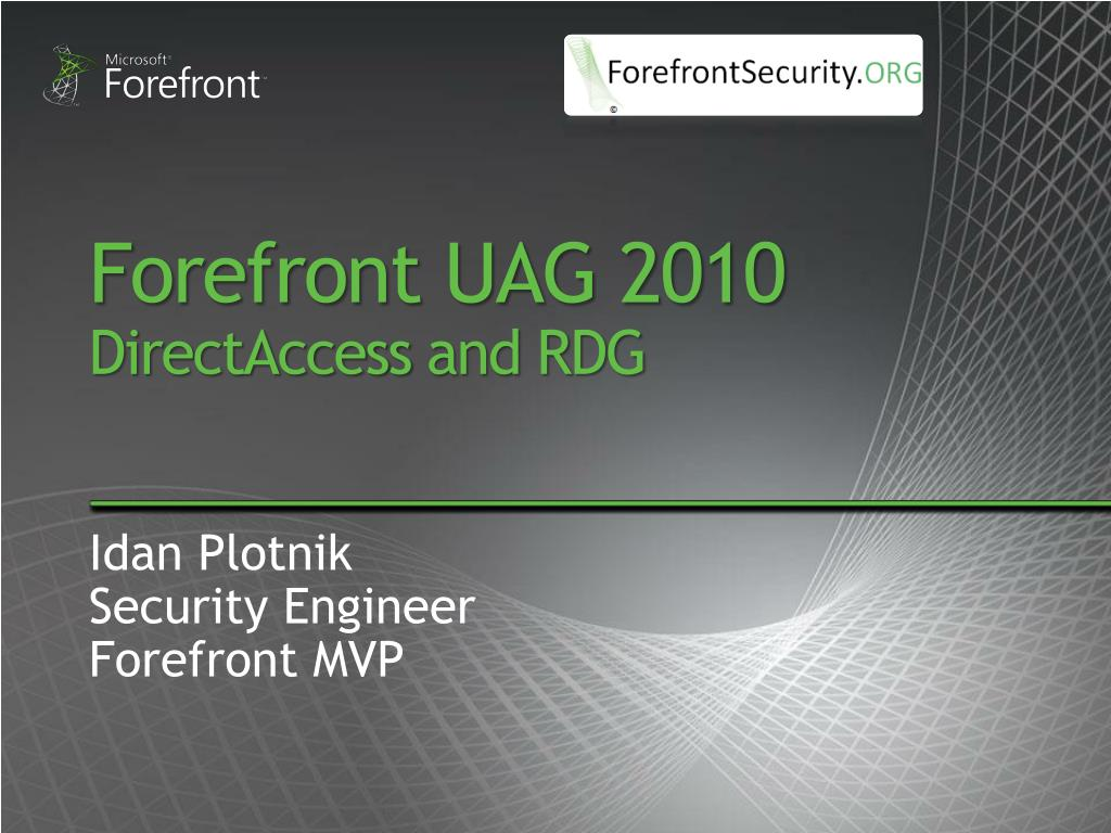 forefront uag 2010 directaccess and rdg l.