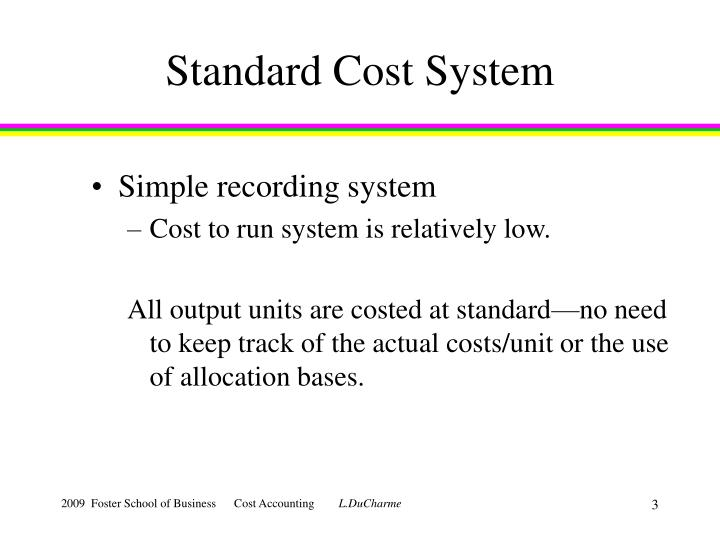 Standard cost system