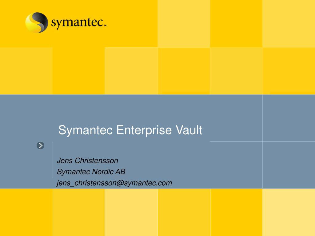 symantec enterprise vault l.
