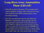 long horn army ammunition plant lhaap