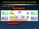 controlling broadcast domains with vlans1