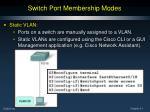 switch port membership modes1