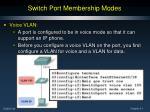 switch port membership modes3