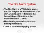 the fire alarm system