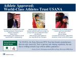 athlete approved world class athletes trust usana