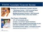 usana associates generate income