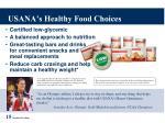 usana s healthy food choices