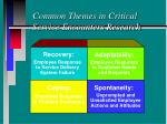 common themes in critical service encounters research