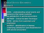 critical service encounters research