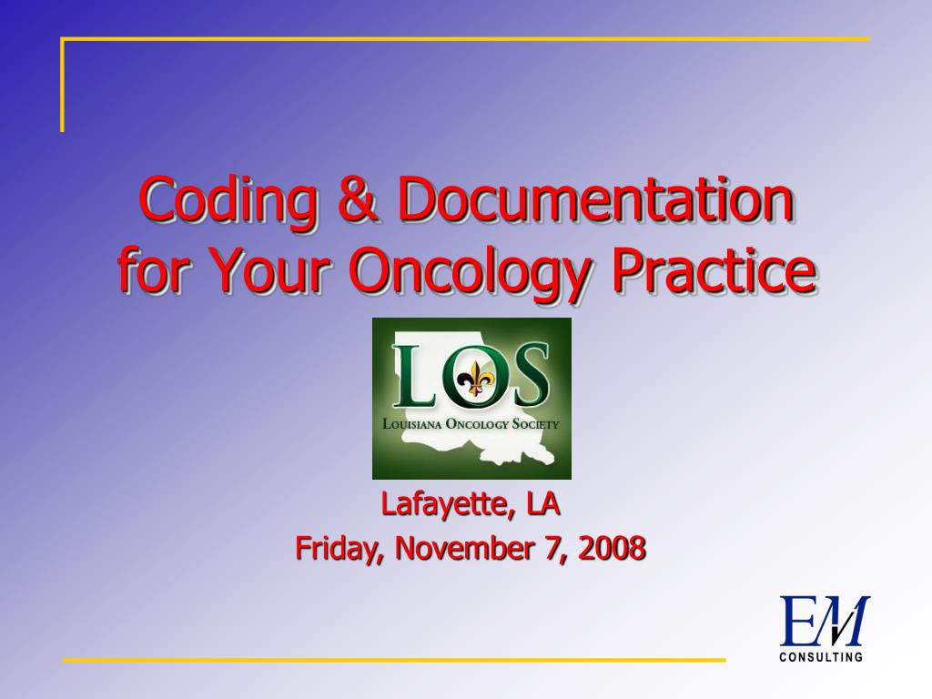 coding documentation for your oncology practice l.