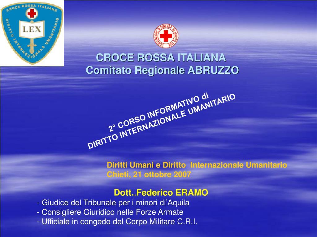 croce rossa italiana comitato regionale abruzzo l.