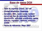 base de datos dgii