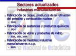 sectores actualizados industrias manufactureras19