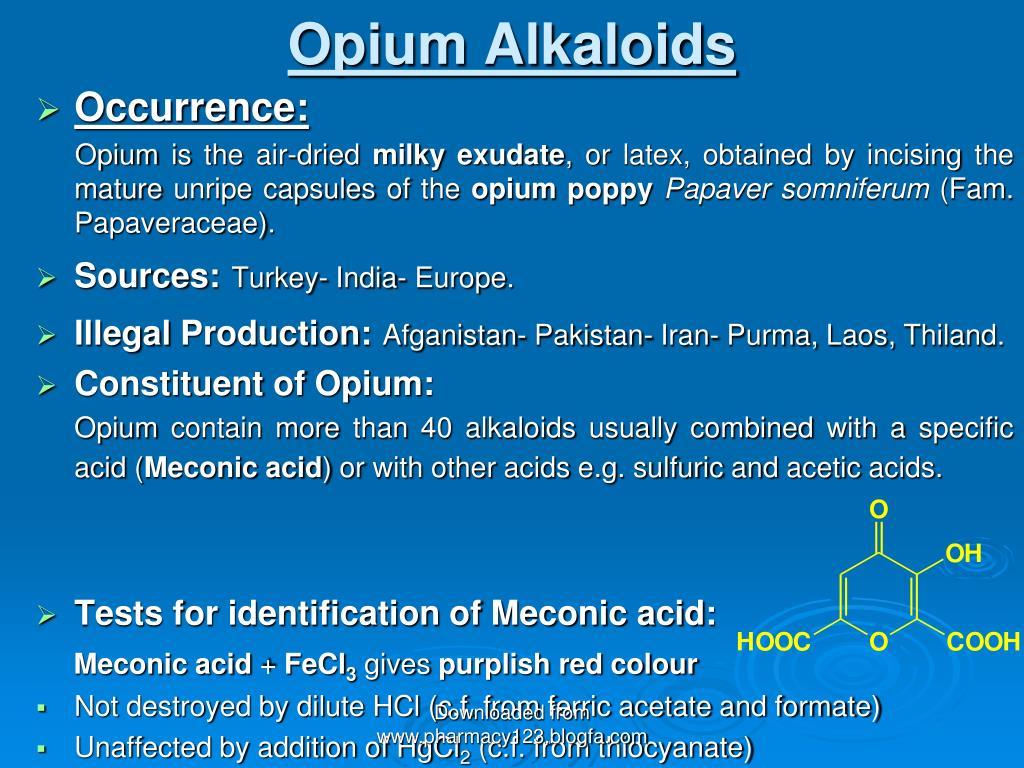 opium alkaloids l.