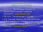 european clil organisations