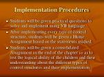 implementation procedures7